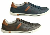 NEW DEMOCRATA ECHO MENS LEATHER SLIP ON CASUAL SHOES MADE IN BRAZIL