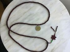 Sandal wood prayer beads necklace and jade
