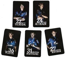 5x Sammelkärtchen + Set 4 + FC Schalke 04 + Saison 2015/2016 + Kumpel Serie +