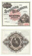 More details for sweden 100 kronor banknote (1956) p.45b - ef.