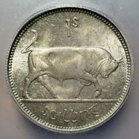 Toned Silver 1942 Ireland 1 Shilling | ICG MS64