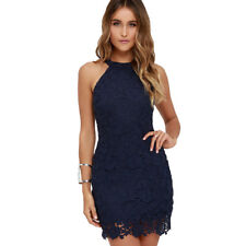 SEXY Women Lace Sheath Sexy Wedding Party Evening Prom Cocktail Short Mini Dress