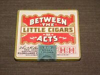 "VINTAGE TOBACCO 3 1/4"" X 3"" LORILLARD BETWEEN THE ACTS LITTLE CIGARS TIN *EMPTY*"