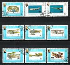 Avions Belize (40) série complète de 9 timbres oblitérés