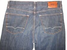 HUGO BOSS HB1 Button Fly Tagged 35 X 34 Straight Leg Vintage Blue Men's Jeans