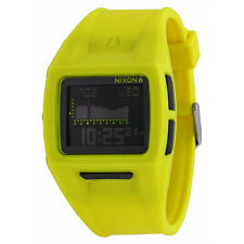 Nixon The Lodown II Tide Digital Dial Yellow Polyurethane Mens Watch A2891262