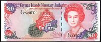 2001 Cayman Islands $10 Dollars Banknote * C/1 873907 * aUNC * P-28a