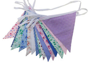 Farmhouse Vintage Floral Shabby Chic 5m Double Sided Fabric Bunting - Free Post