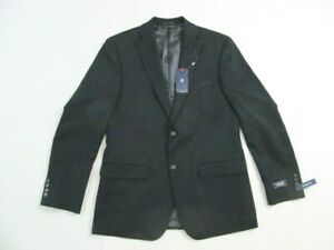 IZOD Classic Fully Lined Stretch Navy Size 40 Reg Two Button Suit Blazer Jacket