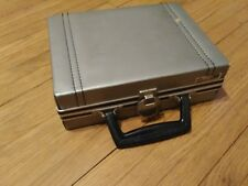 Vintage Savoy Gray Mini Suitcase Style 16 Cassette Tape Carrying Case Rare