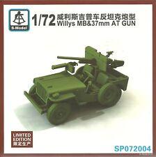 S-Model 1/72 Willys Jeep & 37mm Anti Tank Gun (Ltd Edition Kit)