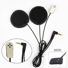 Helmet Headphones+Clamp Mount for V6 1200m Bluetooth Intercom BT Moto Interphone