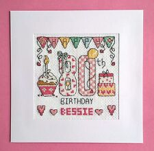 Happy 80th Birthday cross stitch card kit