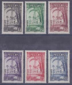 Colonies françaises  - Fezzan - Taxes n° 6 à 11*