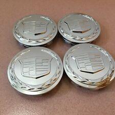 "4x CHROME Wheel Center Caps 3.25"" Hubcap Cover fit for Cadillac Escalade 9595891"