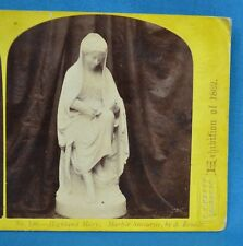 1862 Stereoview Photo The International Exhibition No196 Highland Mary By Brodie