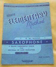 Vintage Rubank Elementary Method - Saxophone - No. 41 - Copyright 1934-N.W.Hovey