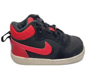 Nike Court Borough Mid TD Toddler Basketball Sneakers Children Size 6 C 839981