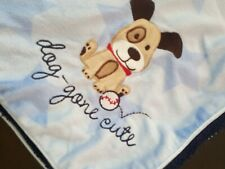 Just One You Dog Gone Cute Puppy Dog Blue Star Sherpa Minky Baby Blanket Carters
