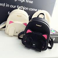 Womens Cute Cat School Bags Backpack Travel Rucksack Shoulder Bag
