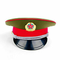 Army Officer's Cap Captain's Visor Hat Chinese Military Soldier Cap 59cm