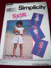 """🌸 SIMPLICITY #8388 - """"BARBIE FOR GIRLS"""" - GIRLS & BARBIE CLOTHING PATTERN 2-4FF"""