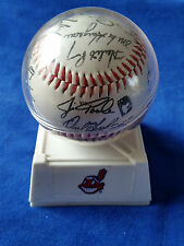 1995 CLEVELAND INDIANS WORLD SERIES TEAM REPLICA  AUTOGRAPHED BASEBALL