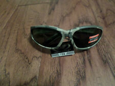 MILITARY STYLE SMOKED LENS SUN GLASSES ACU DIGITAL SAFETY GLASSES U.S.A MADE