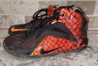 Nike Lebron James Biomech Athletic Basketball Black Red High Shoes Sz 6 Youth