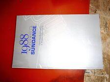 1988 Plymouth Sundance Original Factory Operators Owners Manual