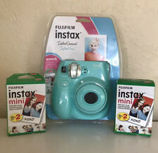 FujiFilm Instax Mini 7S Instant Camera - Seafoam BRAND NEW 50 Pack Film