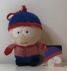 """Small South Park Stan Figure Soft Plush Toy/Keyring with Tags 5"""" (2015)"""