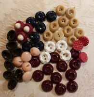 Lot of Small Vintage Antique Buttons Diminutive
