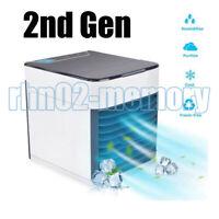 Mini AIRE ACONDICIONADO USB Ventilador Mini FAN Hielo Agua HUMIDIFICADOR 7 LED Q