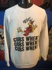 Vintage St Louis Cardinals 50/50 Crewneck Sweatshirt Large Cubs when? Fredbird