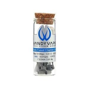 VandyVape Triple Fused Clapton 0.41ohm Coils (10 Pack)   100% Authentic