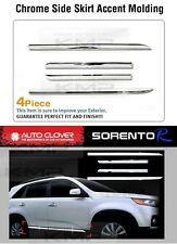 Door Side Skirt Chrome Line Molding Garnish Trim B753 For 2010-12 Kia Sorento R