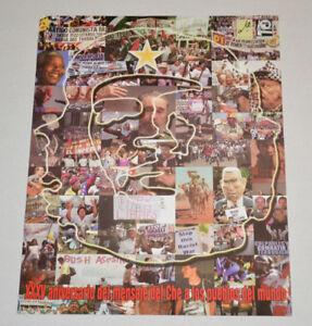 Original Political POSTER.OSPAAAL.Che Guevara.Bush Castro.Cuba propaganda art