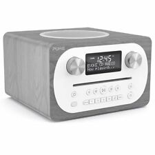 Pure DAB Radio and CD Player, Bluetooth with Remote Control - Grey Oak