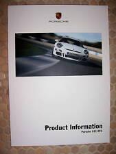 PORSCHE 911 GT3 OFFICIAL PRODUCT INFORMATION TECHNICAL BROCHURE MANUAL 2006-09.