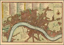 Nicholas De Fer Reproduction Antique Old Map Plan Westminster London England NEW