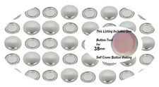 50 Self Cover Buttons 38mm Self Covered Flat Back Cabochon DIY  60L win tool set