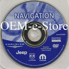 2004 2005 2006 Jeep Liberty & Grand Cherokee SRT8 Overland Navigation DVD Map AD