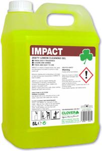 Clover Impact 5Ltr Lemon Floor Gel High Impact Floor Cleaner 5Ltr Clover 111