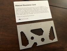 Peter Atwood Business Card Tool  Inch/Metric RARE