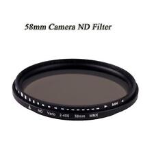 58mm Ultra-Slim Adjustable Fader Variable ND Filter ND2 To ND400 Neutral Density