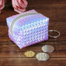Women Mini Hologram Coin Change Purse Wallet Holographic Laser Zipper Small Bag