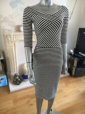 Zuppe Beautiful Off Shoulder Stripped Bardot Bodycon Dress. Size 16 BNWT