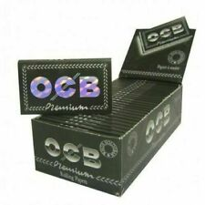1 box OCB PREMIUM BLACK DOUBLE Rolling Papers X 25 packs /total 2500 papers