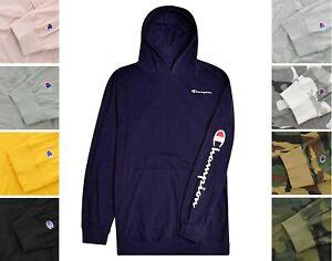 Champion Men's Logo Hoodie Big & Tall Knit Long Sleeve Pullover Hooded Shirt